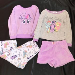 My Little Pony pjs pajamas purple 4T lot bundle
